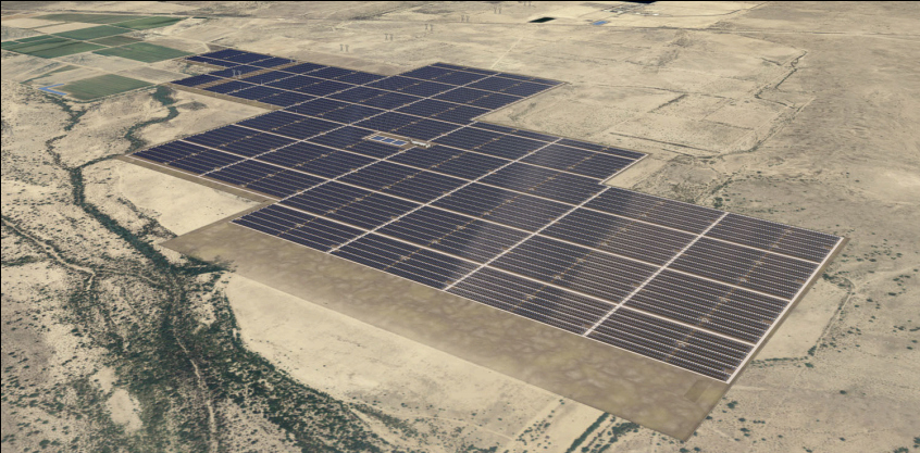 Artist Rendering of Arlington Valley Solar Energy Project