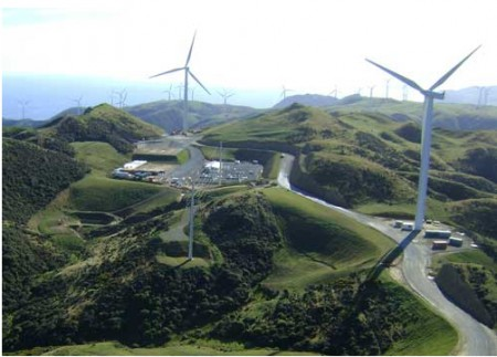 Project West Wind Farm in New Zealand