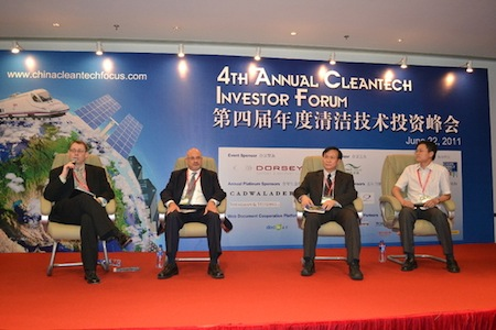 Panelists at Cleantech Investor Forum