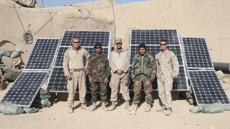 Marines embrace solar power