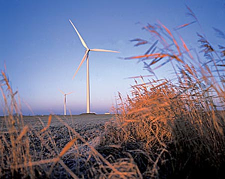 Vesta wind turbines in Germany
