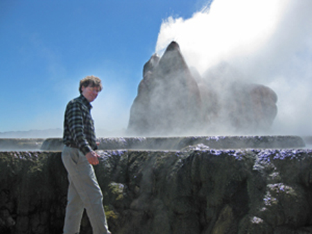 Jim Faulds at Geyser in Great Basin