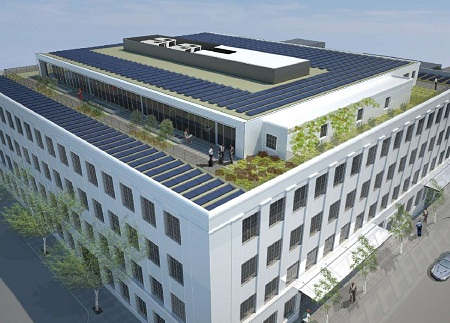 Vestas Headquarters, Portland, SolarWorld solar power system