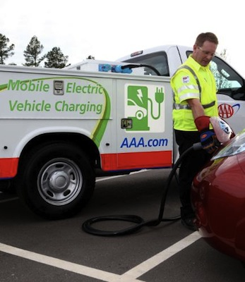 AAA, Charging Unit, Electric Cars, Electric Vehicles, Roadside Assistance