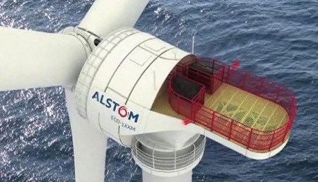 offshore wind turbine, Alstom