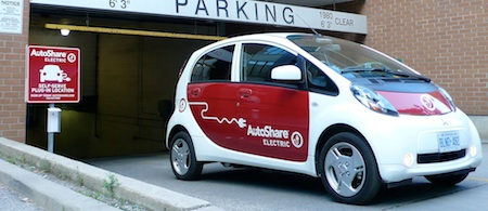 AutoShare, Mitsubishi i-MiEV, Electric Car, Car Sharing