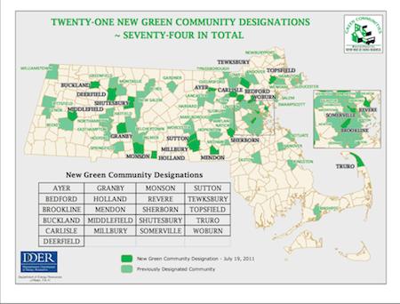 green communities via mass dept of energy resources