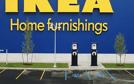 IKEA, The EV Project, Ecotality, Electric Cars, Electric Vehicles