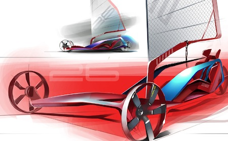 Sand Yacht, Concept Vehicle, Wind Power
