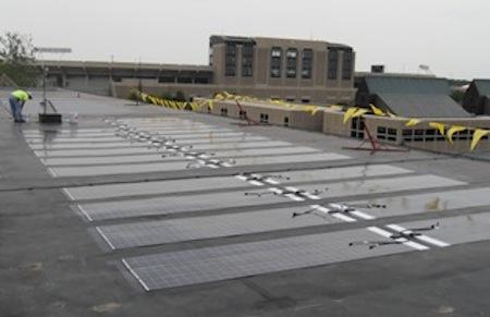 solar panels on fitzpatrick hall