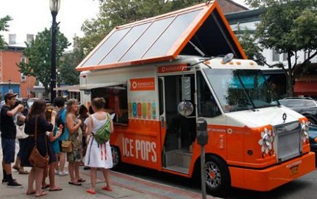 bio-diesel, solar-powered ice pop truck, Sungevity