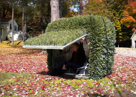 unique solar shrub car via Inhabitat
