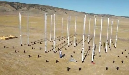 Vertical-axis wind turbines, Caltech