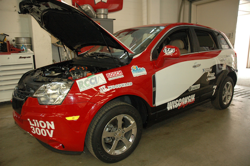 University of Wisconsin hybrid vehicle team's car