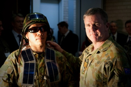 wearable light-weight solar panels, Australia military