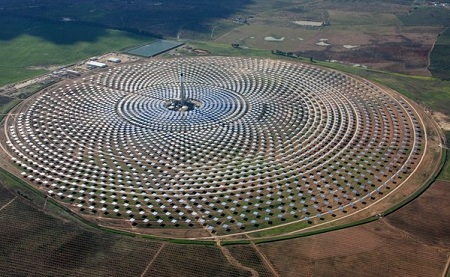 concentrating solar power, around the clock production