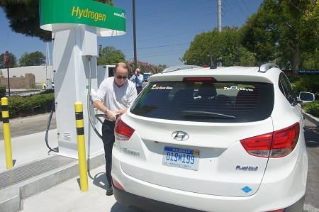 sewage treatment hydrogen fueling station, Orange County