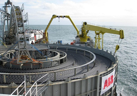 high-voltage direct current cable, North Sea wind-power plants