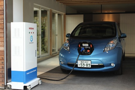 leaf power supply via nissan