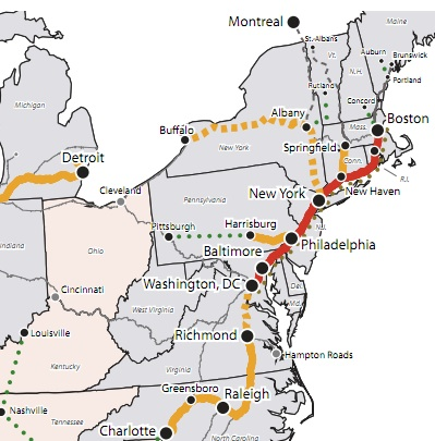 High-Speed Rail, U.S. Department of Transportation, Northeast Corridor, Amtrak