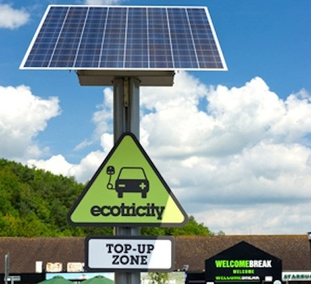 Ecotricity car charging point