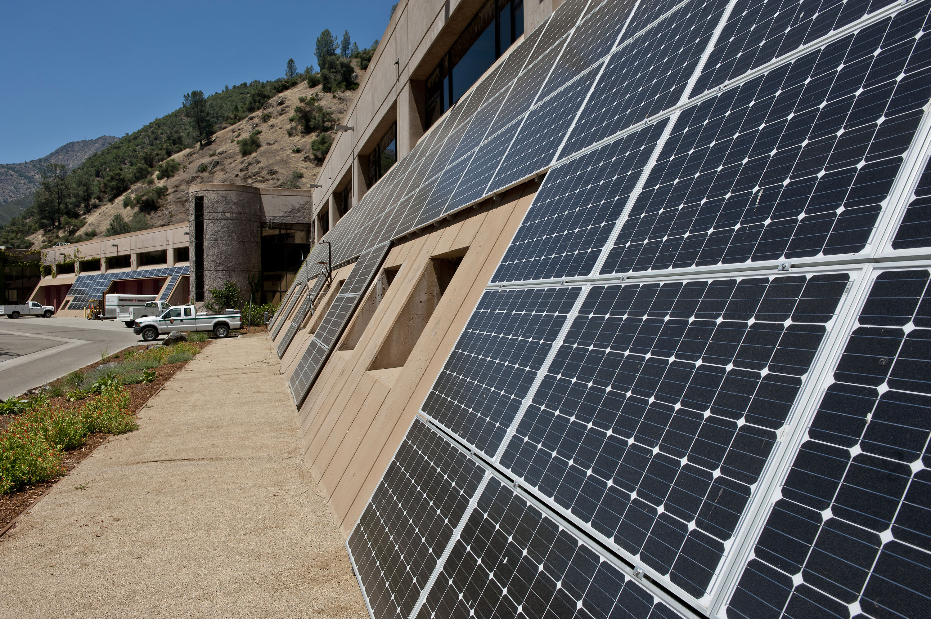 A portion of Yosemite National Park's new solar array.