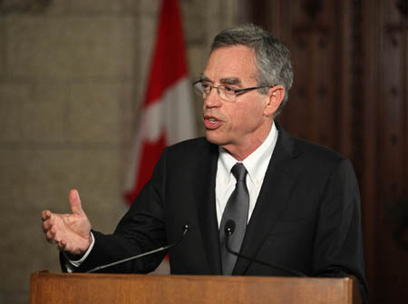 Canada Minister of Natural Resources Joe Oliver