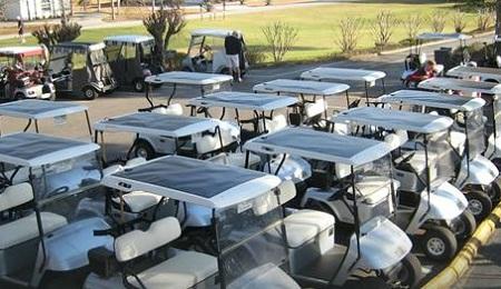 thin-film solar golf carts, Gulf City Solar