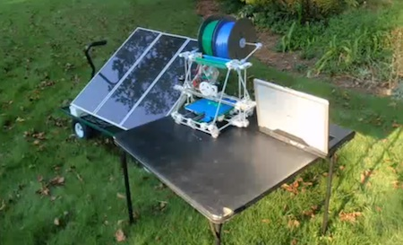 Solar Powered 3D Printer, Solar Power, Solar Panels, RepRap