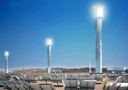 Ivanpah tower design, Rafaa