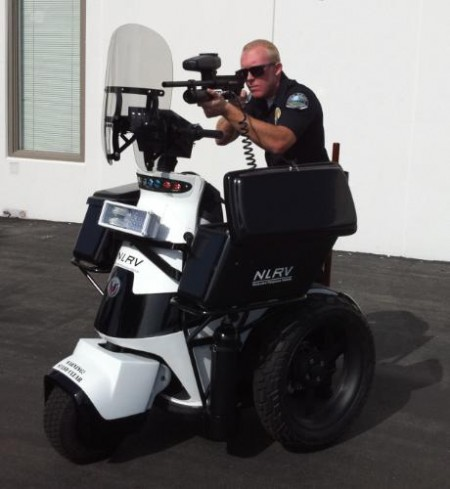 Vehicle Strobe Lights >> Armed Electric Vehicle Targets Riot Control | EarthTechling