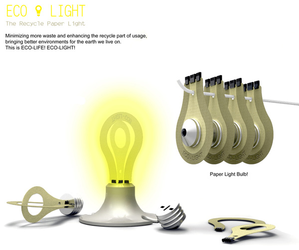Eco Light paper bulb