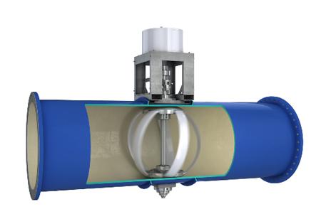 Lucid Energy in-pipe water turbine