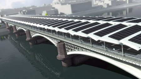 Blackfriars Bridge solar installation