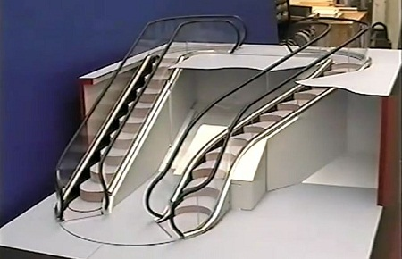 curved escalator, Levytator