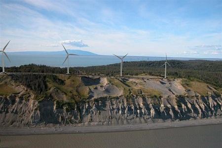 wind power, Alaska, Fire Island Wind