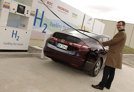 hydrogen vehicle fueling station, Honda, U.K.