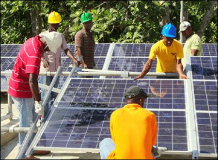 Haiti solar installers