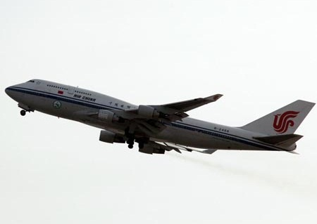 biofuel flight, China, Air China, Boeing