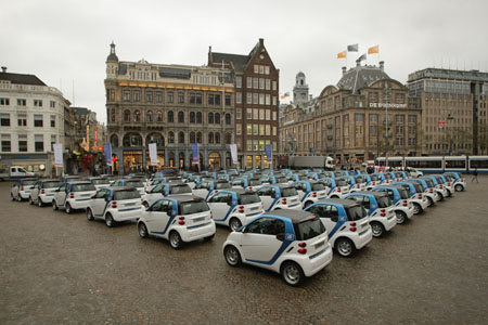car2go Amsterdam fleet