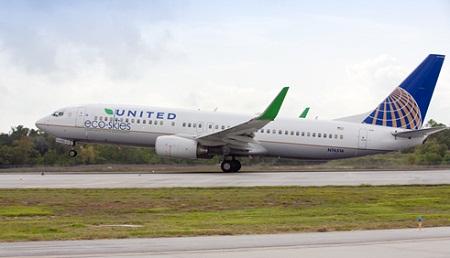 United biofuel flight