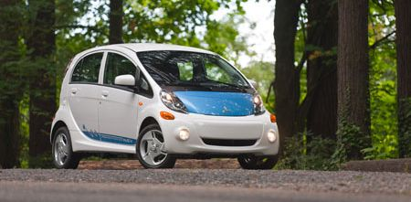 Mitsubishi's i-MiEV electric car