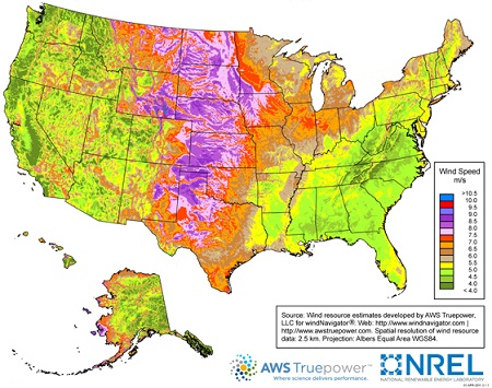 u.s. wind energy map