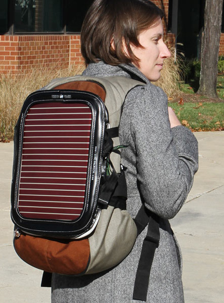 Piggyback Solar-Powered Gadget Bag