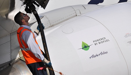 Alaska Airlines, biofuels flight