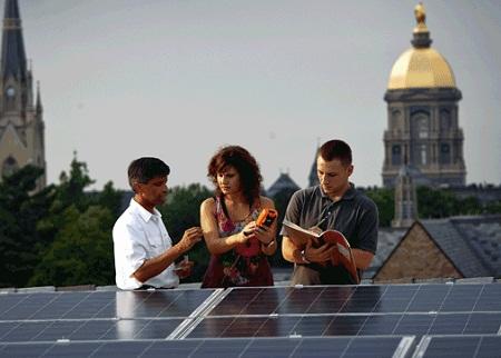 solar paint, Notre Dame