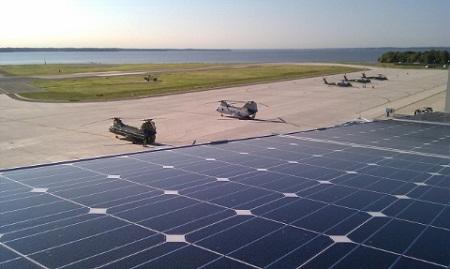 Marine One, presidential helicopter, solar hanger