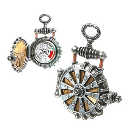 steampunk solar pocket watch