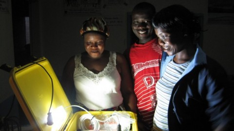 The Solar Suitcase at work in a primary health care centre in Liberia. Photo: WE CARE Solar