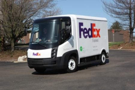 FedEx EV fleet truck